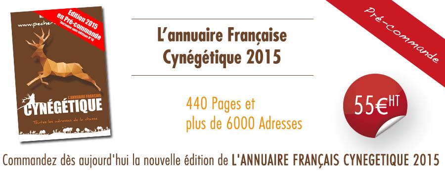 Pré-commande annuaire de la chasse 2015